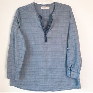 Faded Glory Popover Blouse Size Large 12-14